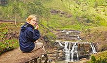 sri lanka itineraries ella waterfall view